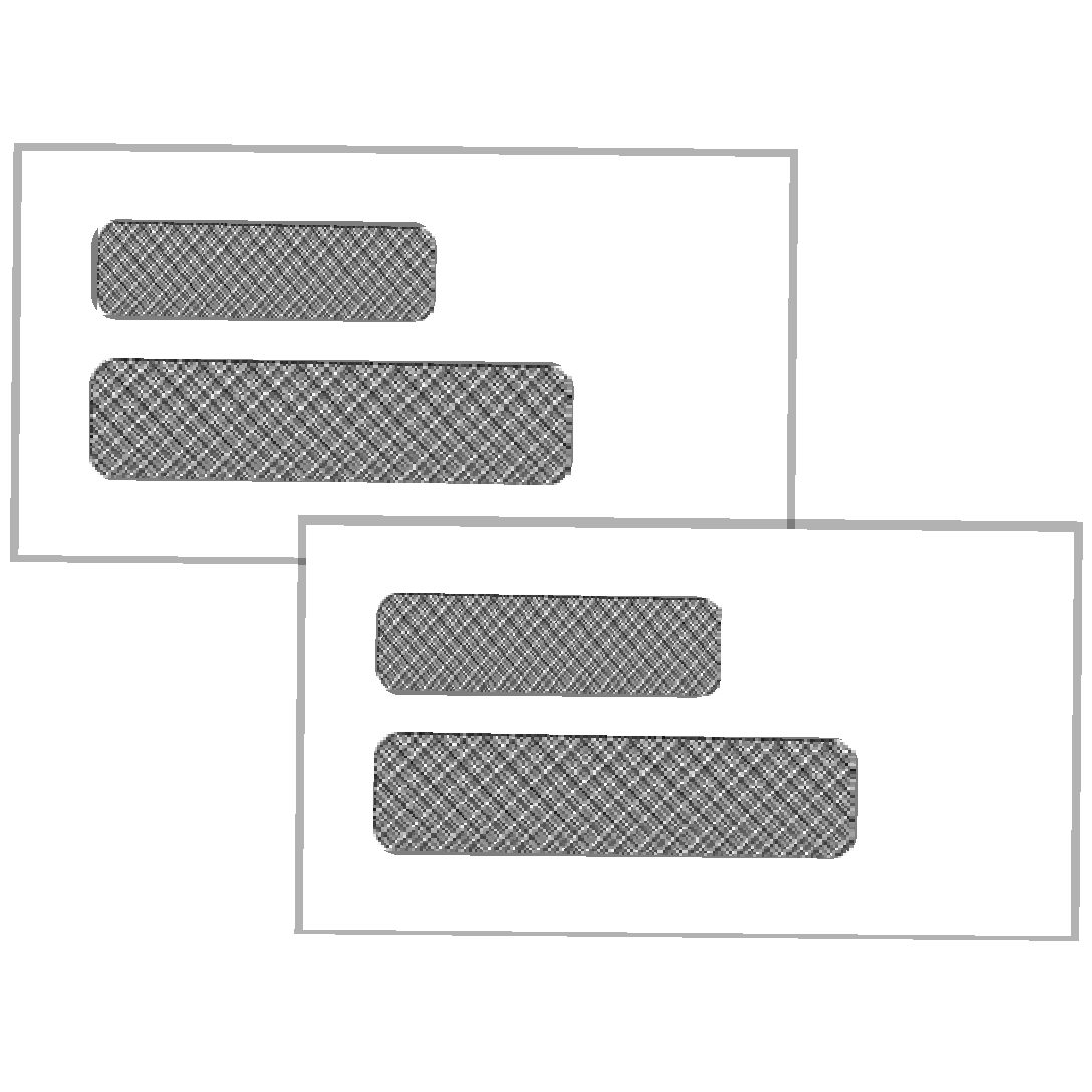Envelopes for Checks and Invoices (Single and Double Window)