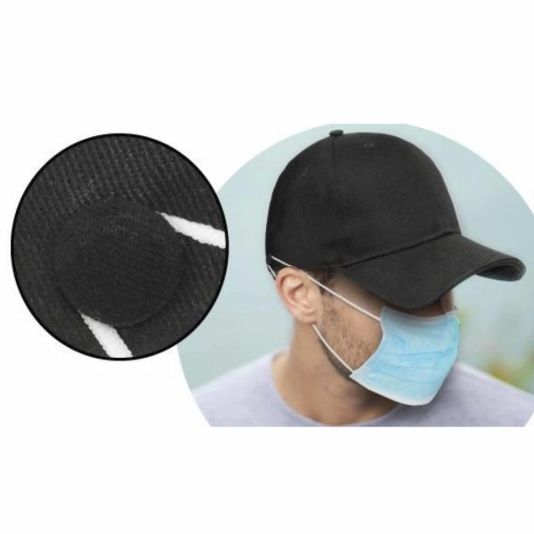 cap with buttons for masks